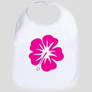 Hot Pink Hibiscus Bib