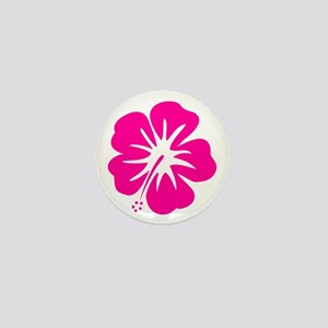 Hot Pink Hibiscus Mini Button
