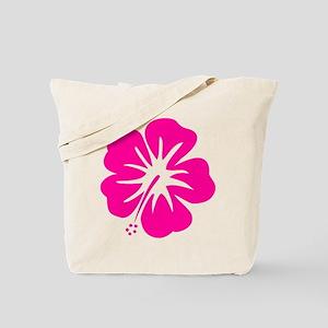 Hot Pink Hibiscus Tote Bag