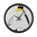 Emperor Chubby Penguin Large Wall Clock