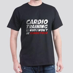 Cardio Training Zombie Food Dark T-Shirt