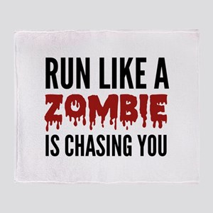 Run like a zombie is chasing you Stadium Blanket