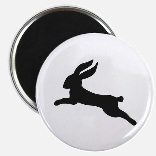 "Black bunny rabbit 2.25"" Magnet (100 pack)"