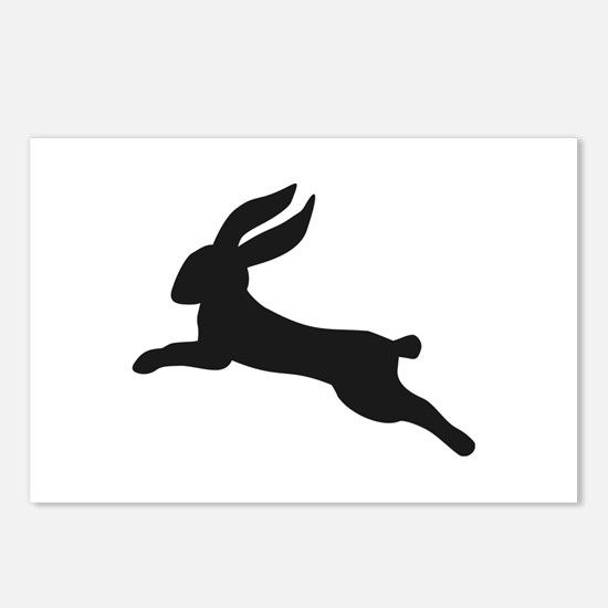 Black bunny rabbit Postcards (Package of 8)