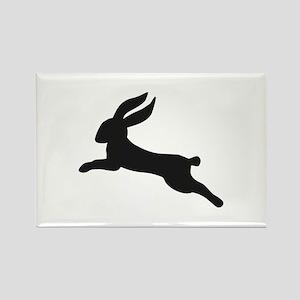 Black bunny rabbit Rectangle Magnet
