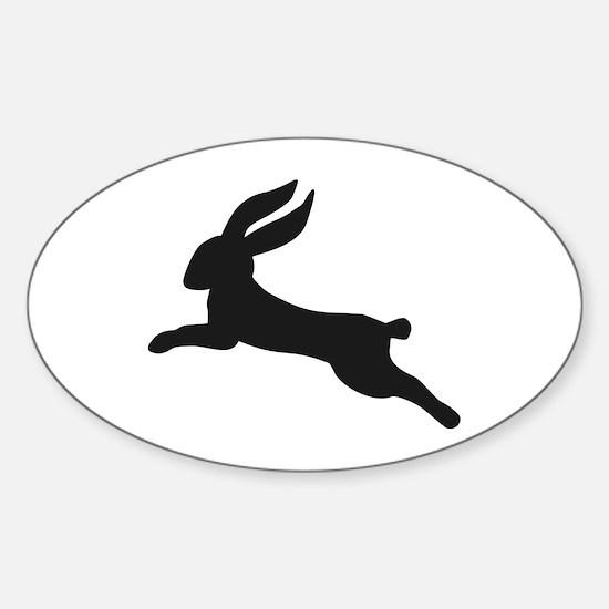 Black bunny rabbit Sticker (Oval)