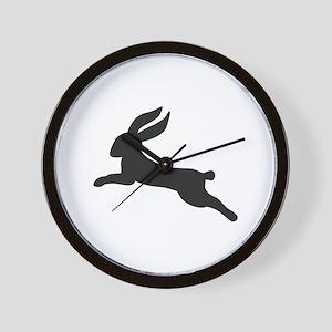 Black bunny rabbit Wall Clock
