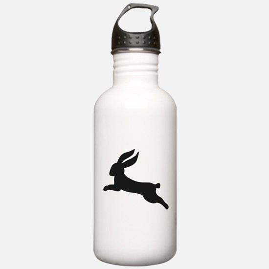 Black bunny rabbit Water Bottle