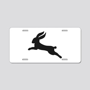 Black bunny rabbit Aluminum License Plate