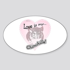 Chin Love Is Oval Sticker
