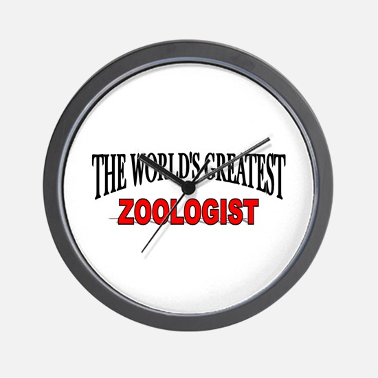 """""""The World's Greatest Zoologist"""" Wall Clock"""