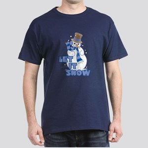 Let It Snow Navy T-Shirt