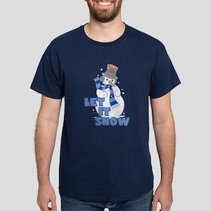 Let It Snow Navy T-Shirt
