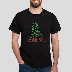 Designer Christmas Tree Black T-Shirt