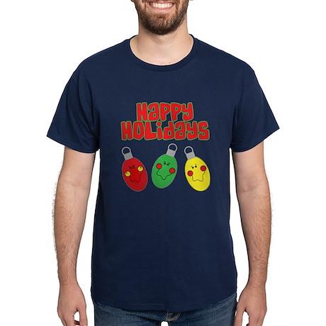 Happy Holidays Navy T-Shirt