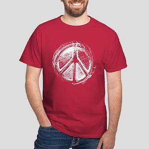 Urban Peace Sign Sketch Dark T-Shirt