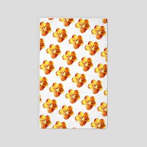 Orange Gold Floral Splendor 23 3'x5' Area Rug