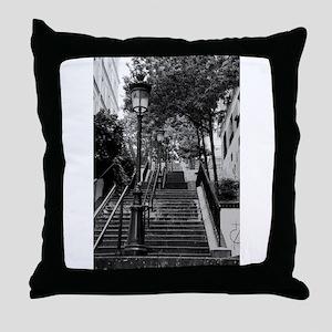 Montmartre Steps Throw Pillow