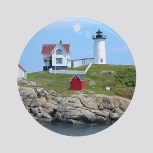 Nubble Lighthouse Ornament (Round)
