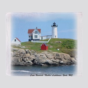 Nubble Lighthouse Throw Blanket