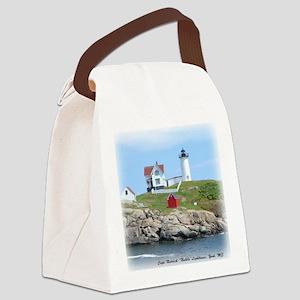 Nubble Lighthouse Canvas Lunch Bag