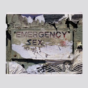 Emergency Sex! Throw Blanket