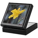 Yellow Leaf Keepsake Box