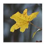 Yellow Leaf Tile Coaster