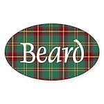 Tartan - Beard Sticker (Oval 50 pk)