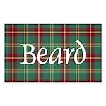 Tartan - Beard Sticker (Rectangle 50 pk)