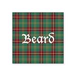 Tartan - Beard Square Sticker 3