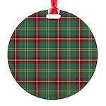 Tartan - Beard Round Ornament