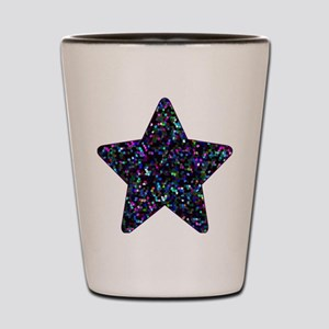 Shot Glass Mosaic Glitter Star 1