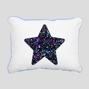 Rectangular Canvas Pillow Mosaic Glitter Star 1