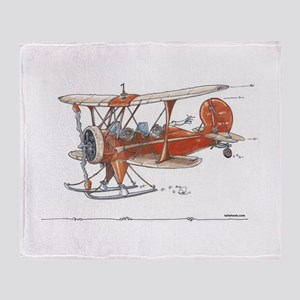 Waco Ski Plane Throw Blanket