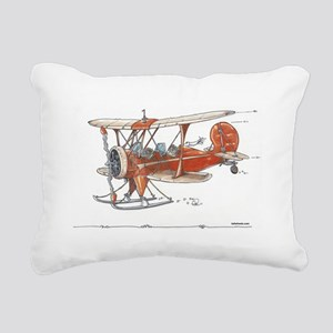 Waco Ski Plane Rectangular Canvas Pillow