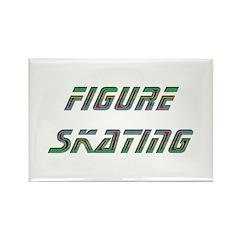 Figure Skating Rectangle Magnet (100 pack)