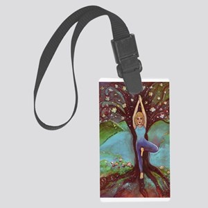 Yoga Balance-Tree POSE Large Luggage Tag