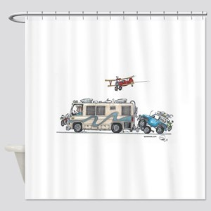 Heading to the Airshow Shower Curtain