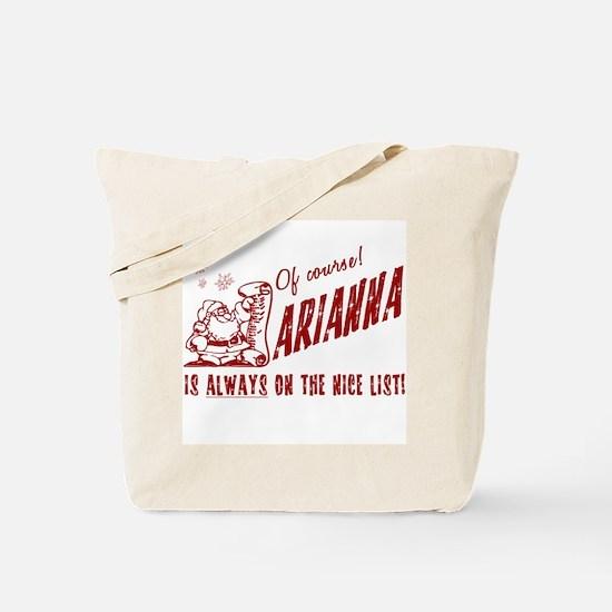 Nice List Arianna Christmas Tote Bag