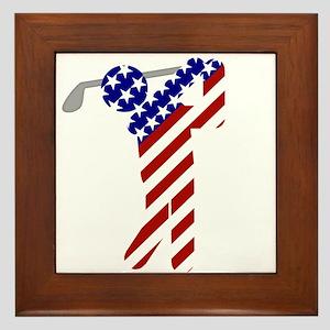 USA Mens Golf Framed Tile
