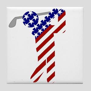 USA Mens Golf Tile Coaster