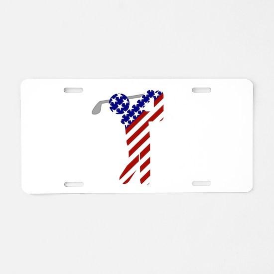 USA Mens Golf Aluminum License Plate