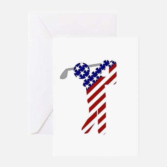 USA Mens Golf Greeting Card