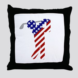 USA Mens Golf Throw Pillow