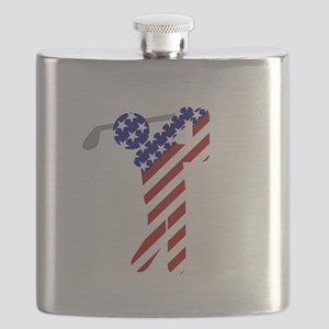 USA Mens Golf Flask