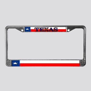 Texas Texan State Flag License Plate Frame
