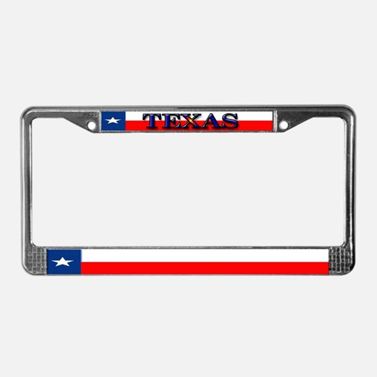Texas Lone Star State Flag License Plate Frame