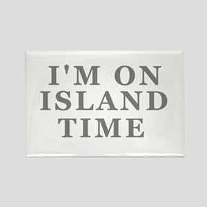 Im On Island Time Rectangle Magnet