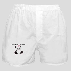 Custom Girl Panda Boxer Shorts